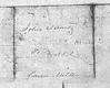 Note on back of John Christian's Marriage Certificate