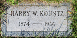 Harry Welling Kountz's Headstone