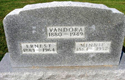 Earnest, Minnie, Vandora Massey Headstone
