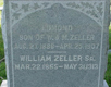 William and Edward Zeller's Headstone